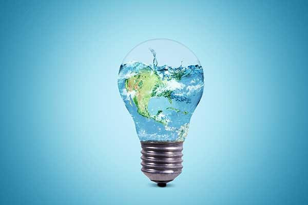 Light Bulbs Recycling Illustration