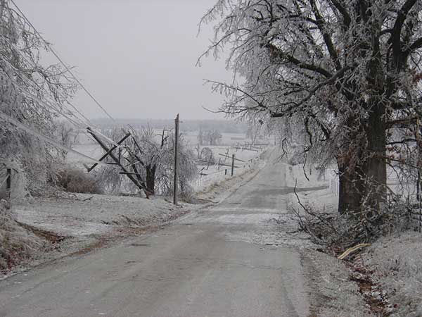 Power Outages   Ice Causes of Power Loss